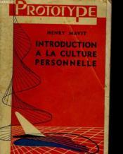 Introduction A La Culture Personnelle - Couverture - Format classique