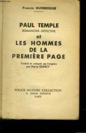 Paul Temple Et Les Hommes De La Premiere Page - Couverture - Format classique