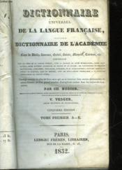 Dictionnaire Universel De La Langue Francaise - Tome Premier A - K - Couverture - Format classique