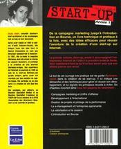 Start-Up ; Annee 1 - 4ème de couverture - Format classique