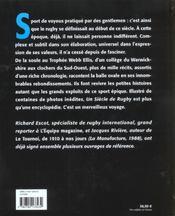 Un Siecle De Rugby ; Edition 2002 - 4ème de couverture - Format classique