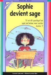 Sophie Devient Sage - Intérieur - Format classique