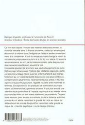Histoire du viol ; XVIe-XXe siècle - 4ème de couverture - Format classique