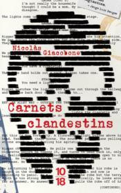 Carnets clandestins - Couverture - Format classique
