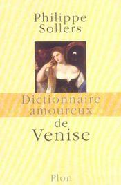 Dictionnaire amoureux de Venise - Intérieur - Format classique