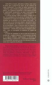 Freres et soeurs (2e édition) - 4ème de couverture - Format classique