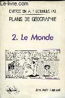 Plans De Geo T.2 Le Monde - Couverture - Format classique