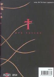 MPD psycho t.2 - 4ème de couverture - Format classique