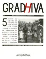 Revue Gradhiva N.5 - Couverture - Format classique