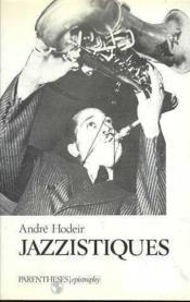 Jazzistiques - Couverture - Format classique