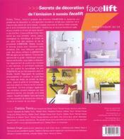 Facelift - Solutions pour redonner vie à votre maison - 4ème de couverture - Format classique