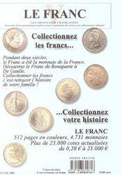 Le Franc 5 - 4ème de couverture - Format classique