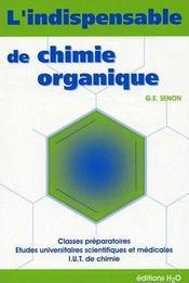 L'indispensable de chimie organique - Couverture - Format classique