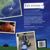 Les avions - 4ème de couverture - Format classique