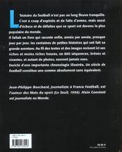 Un Siecle De Football ; Edition 2002 - 4ème de couverture - Format classique