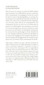 Alain Françon ; sur la voie des textes - 4ème de couverture - Format classique