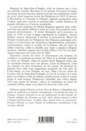 Regnaud de Saint-Jean-d'Angély ou la fidélité à l'empereur (1760-1819) - 4ème de couverture - Format classique