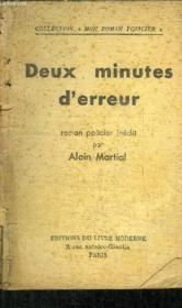 Deux Minutes D'Erreur - Collection Roman Policier - Couverture - Format classique