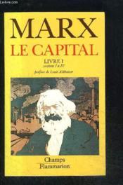 Capital - livre i - sections i a iv t1 (le) - Couverture - Format classique