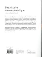 Une histoire du monde antique - 4ème de couverture - Format classique