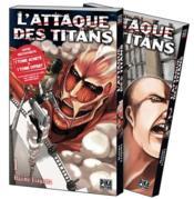 L'attaque des titans ; t.1 et t.2 - Couverture - Format classique