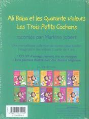 Ali Baba Et Les Quarante Voleurs ; Les 3 Petits Cochons - 4ème de couverture - Format classique