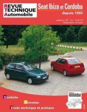 Rta 567.2 Seat Ibiza Et Cordoba E Et D 93-95 - Couverture - Format classique