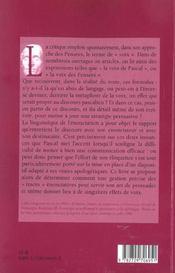 Traces De La Voix Pascalienne - 4ème de couverture - Format classique
