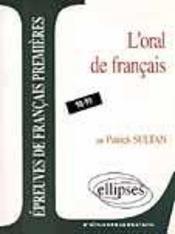 L'Oral De Francais 98-99 Epreuves De Francais Premieres - Intérieur - Format classique