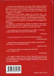 Le Guide De La Serenite - 4ème de couverture - Format classique