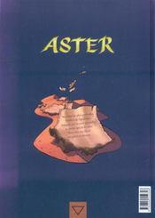 Aster t.1 ; Oupanishads - 4ème de couverture - Format classique