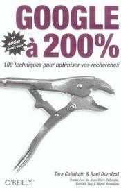 Google A 200% 2e Edition - Intérieur - Format classique