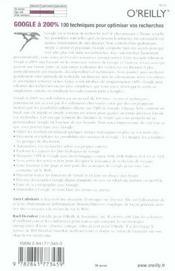 Google A 200% 2e Edition - 4ème de couverture - Format classique