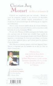 Mozart t2 fils de la lumiere - 4ème de couverture - Format classique