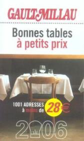 Guide Des Bonnes Tables A Petit Prix (Edition 2006) - Couverture - Format classique