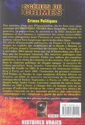 Crimes politiques - 4ème de couverture - Format classique