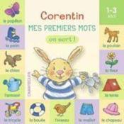 Corentin, mes premiers mots ; on sort ! - Couverture - Format classique