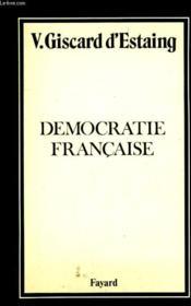 Democratie Francaise. - Couverture - Format classique