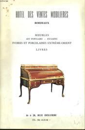 Catalogue De Ventes Aux Encheres Publiques De Meubles. - Couverture - Format classique