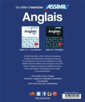 Anglais t.1 ; niveaux faux-débutants ; t.2 ; intermédiaires - 4ème de couverture - Format classique