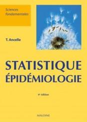 Statistiques épidémiologie (4e édition) - Couverture - Format classique