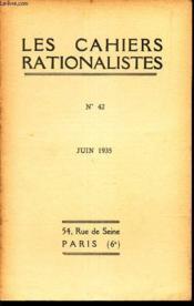 LES CAHIERS RATIONALISTES - N°342 - juin 1935 / La question du cancer / Activites des sections ... - Couverture - Format classique