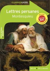 Lettres persanes, de Montesquieu - Couverture - Format classique