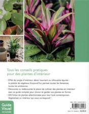 Plantes d'intérieur ; plantes tendances pour un effet jungle - 4ème de couverture - Format classique
