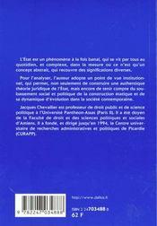 L'etat 1ere edition - 4ème de couverture - Format classique