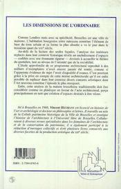Les Dimensions De L'Ordinaire - 4ème de couverture - Format classique