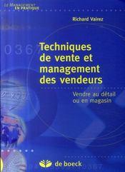 Techniques de vente et management des vendeurs - Intérieur - Format classique