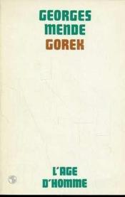 Gorek - Couverture - Format classique