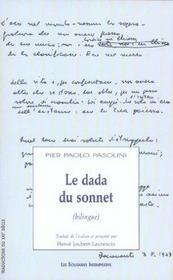 Le dada du sonnet - Intérieur - Format classique