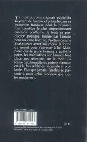 Le dada du sonnet - 4ème de couverture - Format classique